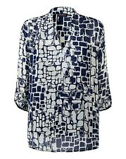 Grace Made In Britain Chiffon Tunic Top with Cami Size 20 BNWT Blue Uk Freepost