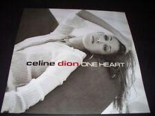 CELINE DION PROMO ALBUM POSTER FLAT RARE ONE HEART EPIC