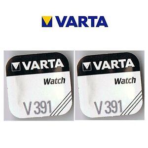 2 Stück VARTA V391 Knopfzelle Batterie  SR55  SR1120W Uhrenbatterie SR1120 D391