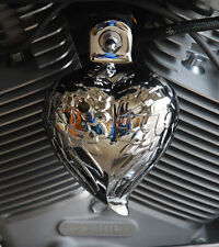 CHROME ANGEL WING HORN COVER.  DYNA, SPORTSTER, SOFTAIL. VROD. HRT-CW