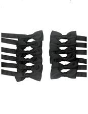 Solid Black Adjustable Boys/Kids Bowties (12-Pack)