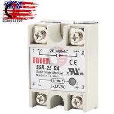 Fotek Solid State Relay Module 3-32V DC Input 24-480V AC SSR-25DA 25A US Stock