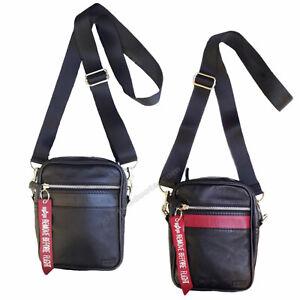 Alpha Industries RBF Leather Messenger Bag 126915 - Shoulder or belt-leather bag
