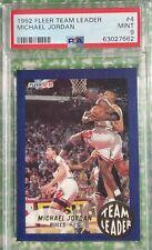 1992 Fleer Team Leader Michael Jordan #4 PSA Mint 9
