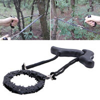 USA Camping Hiking Emergency Survival Hand Tool Gear Pocket Chain Saw ChainSaw