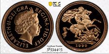 1999 Gold Half Sovereign Proof PR70 PCGS Great Britain 1/2 Royal Mint Sov