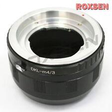 Voigtlander Regina DKL Lens To Micro 4/3 mount Adapter GH4 E-PL6 P5 OM-D MFT