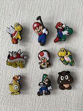 9x  Schuhstecker/Shoe Charms für Clogs/Crocs  Schuhpins Super Mario Luigi