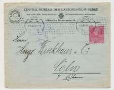 Österreich Fanz Joseph Privatumschlag CARBORUNDUM-WERKE WIEN 1908 (36691)