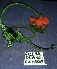 impianto freno gilera dna 50cc anteriore pinza treccia pompa front brake system