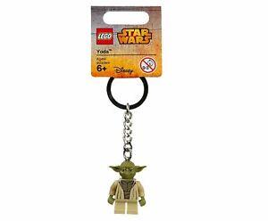 LEGO YODA MINIFIGURE KEYCHAIN STAR WARS 853449 KEYRING KEY CHAIN RING