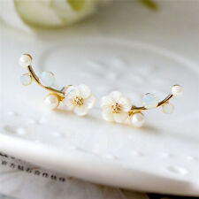 Hot Chic Lady Pearl Daisy FlowYHs Ear Cuff Earrings Studs Earrings YH
