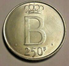 250 Francs (1976)  Belgique Belgïe KM# 157, LA# BFM-203, LA# BFM-20