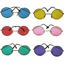 60s HIPPY GLASSES - Red, Blue, Purple, Green Yellow & Pink Hippie John Lennon