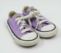 Converse Toddler Girls Lavender Canvas Low Sneakers Shoes Size 7M