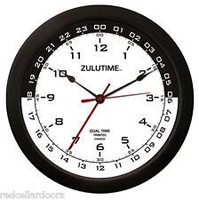 "TRINTEC ZULU CLOCK 12 & 24 HOUR DUAL TIME UTC MILITARY SWL HAM SHACK  ZT143 14"""