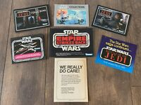 STAR WARS KENNER CATALOG FLYER LOT X 7 KENNER VINTAGE 1978 1980 1983 ANH ESB ROJ