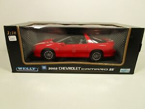 WELLY 1/18 RED 2002 CHEVY CAMARO SS 35TH ANNIVERSARY EDITION NEW *READ*