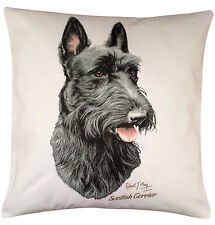 Scottish Terrier Scottie RM Breed of Dog Themed Cotton Cushion - Perfect Gift