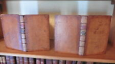 JOHN ARMSTRONG POEMS & MISCELLANIES 2 VOLS 1770 ORIG GILT LEATHER 18TH CENTURY