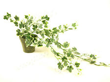 Potted Artificial Variagated Small Ivy Trailing Artificial Plant