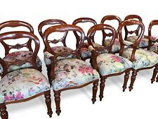 Fantastic set 10 beautiful Victorian style Balloon back chairs French polished