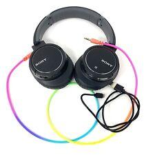 USED Sony MDR-ZX770BN Noise Canceling Bluetooth Wireless Headphones Black READ