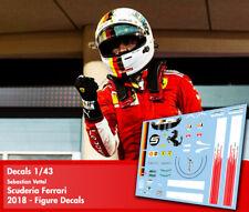 Decals 1/43 - Formula 1 driver figure decals - 11 different versions