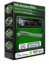 ALFA ROMEO MITO LETTORE CD, Pioneer audio iPod iPhone Android USB AUX