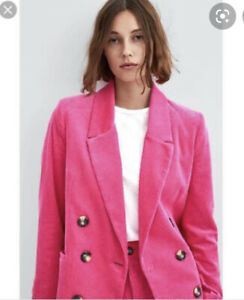 Zara trf Collection Oversize Pink Corduroy New Jacket, Size S/M