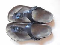 Birkenstock Gizeh 36 normal schwarz Lack, nicht oft getragen und perfekt eingela