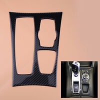 Black Carbon Fiber Gear Shift Box Panel Cover Trim Fit For BMW X5 X6 E70 E71