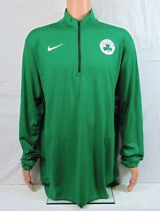 Nike Boston Celtics Player Issue Warm Up Pullover Jacket Sz 2XL-T NEW 877585 312