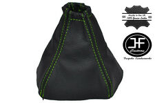 GREEN STITCH FITS NISSAN PRIMERA P12 2002-2008 CUSTOM MADE GEAR GAITER LEATHER