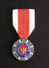 Malaysia Malaya SARAWAK Distinguished Service Medal Order Badge Silver P.P.T.