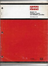 Original Case Model 117 Compact Tractor Parts Catalog A1193 dated December 1975