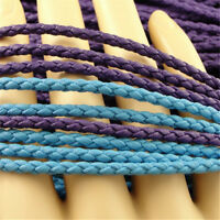 Bolo Braided Leather Cord Bracelet Necklace Jewelry Making Cords 1/5/10 Metres