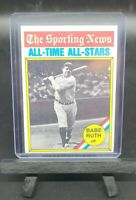 """BABE RUTH 1976 Topps The Sporting News """"All-Time All-Stars"""" #345 NY Yankees HOF"""