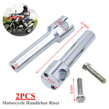 Round Motorcycle Handlebar Riser Mount Clamp Fit For 1''/25mm Faucet Handlebar