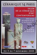 Publicité Salon ceramique 14 Paris exposition 2005