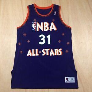 Reggie Miller Vintage Champion 1995 NBA All Star Proto Sample Jersey Size 46