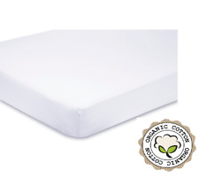 Super Soft Organic Cotton TOP QUALITY DK Fitted Cream Cot Bed Sheet 140x70 cm
