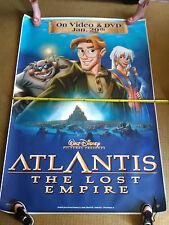 Bus Shelter / 6ft Movie Poster, Disney's Atlantis DVD advertisment