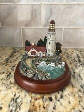 """Hawthorne Village """"Conquering The Storms� Thomas Kinkade's Guiding Lighthouse"""