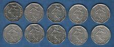 Lot de 10 pièces de 2 Francs Semeuse - Vème République, 1959-