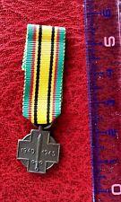 Belgique -Très Jolie miniature de la Médaille commémorative de la Guerre 1940-45
