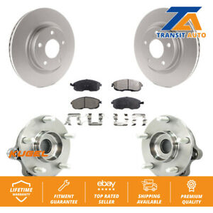 Front Hub Bearing Assembly Coated Disc Brake Rotor And Pad Kit For Nissan Altima
