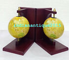 Nautical Red Wooden Stand Globe office library Desk Decor Collectibles Bookends