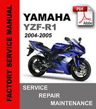 Yamaha R1 YZF-R1 2004 2005 Service Repair Maintenance Manual