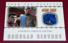 Star Trek Nemesis Rittenhouse 2002 Case Topper Costume Card Romulan History RC1